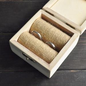 Image 3 - خاتم الزواج صندوق ، شخصية أسماء صندوق خشبي ، هدية للأزواج خواتم ، ريفي خاتم صندوق مع إكليل ، حلقة حامل صندوق