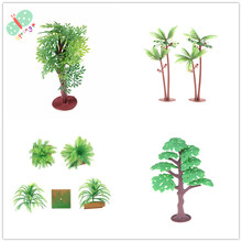 Ho Scale Plastic Miniature Model Trees For Building Trains Railroad Wargame Layout Scenery Landscape Diorama Accessories(China)