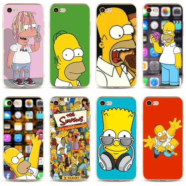 huge discount 21702 c4ce9 US $0.95 5% OFF|The Simpsons Cartoons Anime Cover high quality Soft  Silicone TPU Phone Case For iPhone 5 5C 5S SE X 6 6S 6plus 7 7plus 8  8plus-in ...