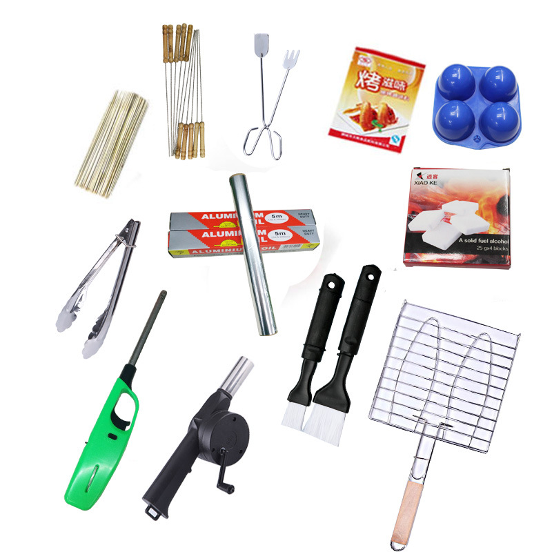 ФОТО  12 pcs/sets BBQ Grill Wild Fittings Barbecue Supplies Accessories Eat Barbecue Utensils Set