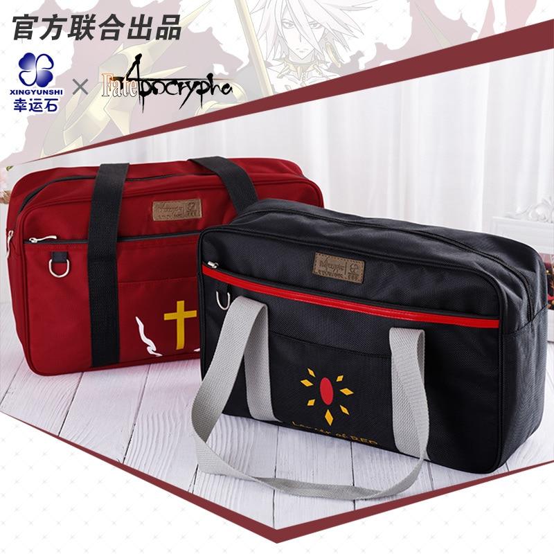 Fate Apocrypha Drawstring Bag Անիմե ուսի պայուսակներ Manga դերը Mordred Amakusa Shirou Tokisada Cosplay Action գործիչ ՆՈՐ Ժամանում