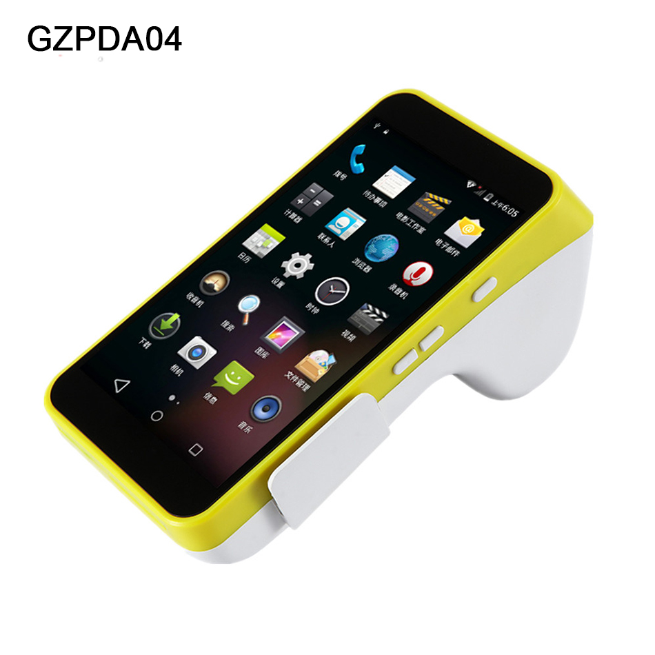 Pos-терминал портативных устройств POS Беспроводной Портативный Android принтера PDA Мобильный 3g WI-FI Смарт получение pos-принтера 58 мм