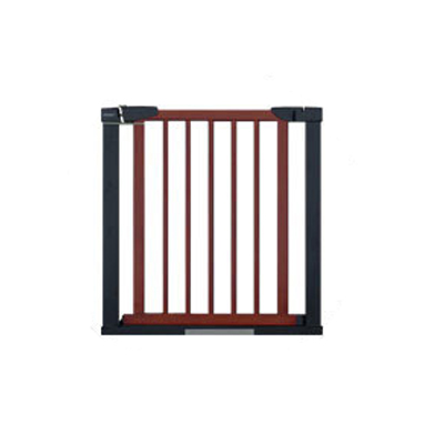 75 to 84 cm Wooden Baby Gate for Stairs with 5cm Thick Steel Frame for Child Security 1