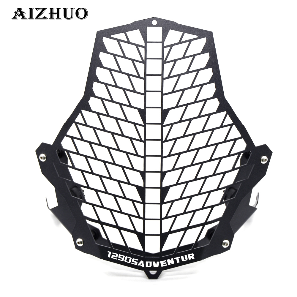 FOR KTM Motorcycle Headlight Protector Guard Lense Cover grill for 1190 Adventure / 1190R 1290 Super 2015 2016