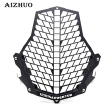 FOR KTM Motorcycle Headlight Protector Guard Lense Cover grill for KTM 1190 Adventure / 1190R 1290 Super Adventure 2015 2016 for ktm 1190r 1190 adventure 2013 2018 2017 2016 motorcycle accessories headlight head lamp light grille guard cover protector