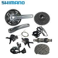 Shimano acera XT M3000 список групп 3x9 Скорость кассета передний переключатель задний переключатель MTB велосипеда трансмиссии комплект 170 мм шатуны г
