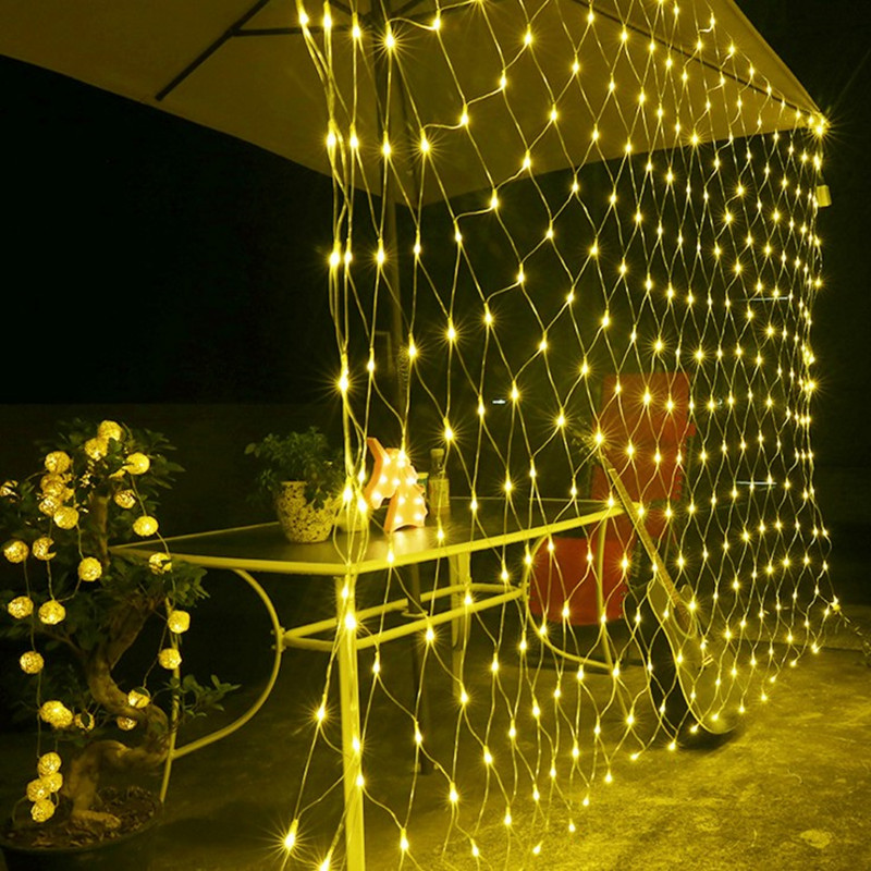 Net Curtain Sring lights 6m*4m 750 LED AC220V Fairy Twinkle Lamp Garland for Festival Party Holiday Wedding Christmas Decoration great holiday light hotel wedding celebration decoration 3 6m red led lamp h276
