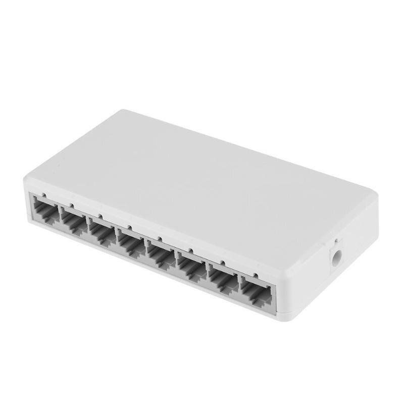Network 8 Port Desktop Switch 10 100 Mbps Fast Ethernet Switcher LAN Hub Support 6-55V Power Supply