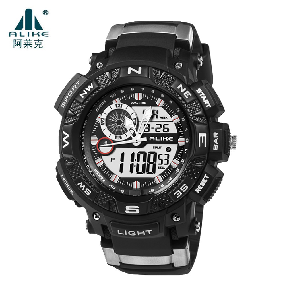 Fashion Sport Super Cool Men's Quartz Digital Watch Men Sports Watches Alike Luxury Brand LED Military Waterproof Wristwatches