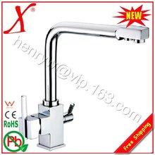 L16683-Люкс 3 способ горячей и холодной и очищенной воды новая модель латунь кран