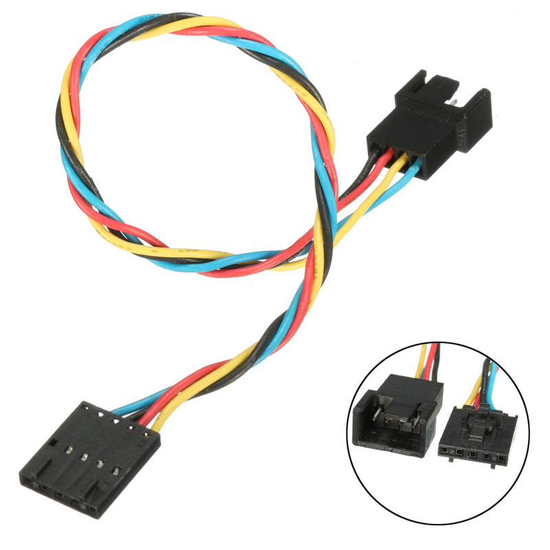 1Pc Dedicated Fan Adapter Conversion Line 5 Pin 4 Wire Interface Computer CPU Case Fan Connector Cable Adapter For DELL xeltek dedicated burn seat cx3015 seat mqfp64 conversion adapter