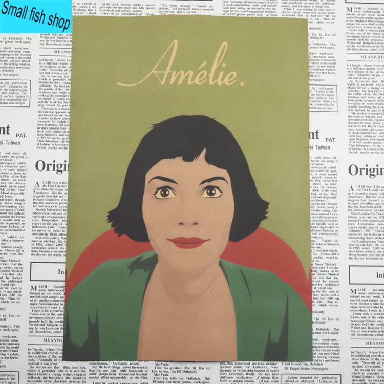 Amelie Audrey Tautou Francuska romantyczna literatura Wyposażenie - Wystrój domu - Zdjęcie 5
