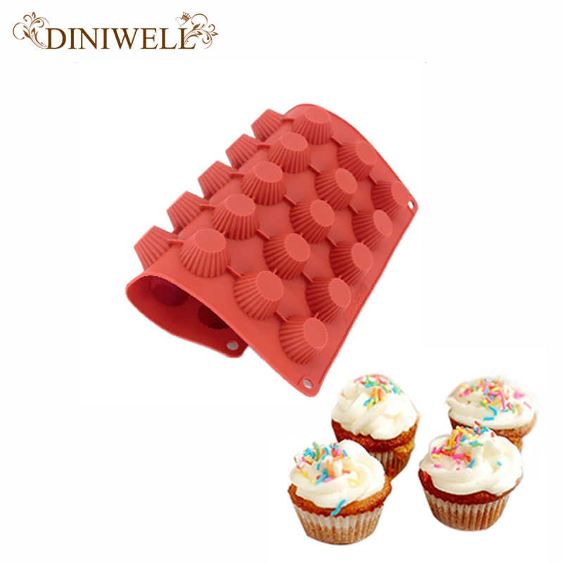 DINIWELL 30 Löcher Runde Form Silikon Kuchen Form 3D Handgemachte Cupcake Jelly Pudding Cookie Mini Muffin Seife Form DIY Backen werkzeuge