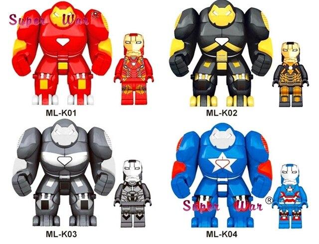 MR298 HulkBuster Grande Grande Homem De Ferro Hulk Buster Coleção Série Blocos de construção tijolos brinquedos para crianças brinquedos Presente Do Miúdo