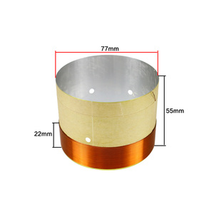 Image 2 - GHXAMP 77mm Woofer Bass Voice Coil With Venting Hole White Aluminum 2 layer Round Copper Wire Repair Parts 2PCS