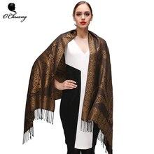 O CHUANG Paisley bufanda de invierno chal moda mujer 180 70 cm bufandas  invierno mujer 2018 echarpe hiver femme Pashmina bufanda. cff1e7d5318
