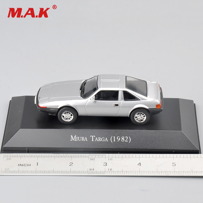 Cheap Toys 1/43 Scale Alloy Diecast Miura Targa (1982) Silver Car Model Toys 1:43 mini Car Model toys Kids Toy