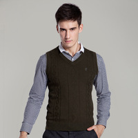 Men S Knit Vest V Neck Fashion Casual Sweater Pullover For Autumn Winter Wool Knit Tops