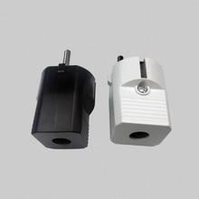 5PCS 16A 250V EU AC Power Adapter Socket Connector Cable Electrical Plug White Black Male Converter Adaptor Detachable Plug цена