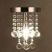 Modern Crystal Chandelier Mini RainDrop Small Lighting for Bedroom Living Room Ceiling Lamp Corridor Hallway Lamp Home Fixture