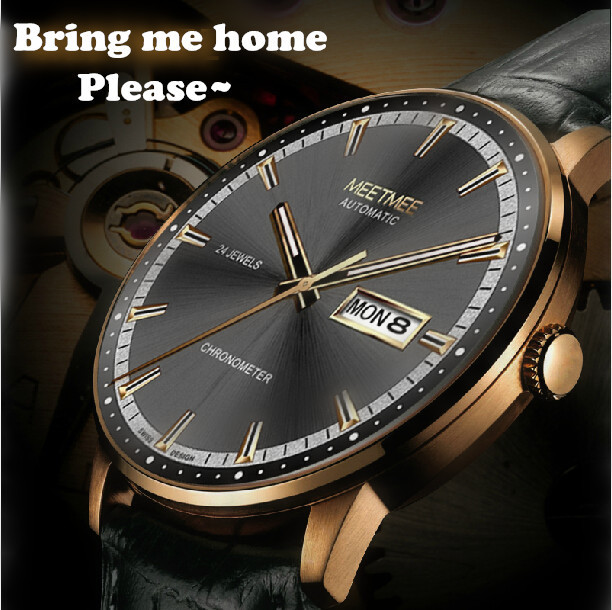2015 New Brand Luxury Business Watches Men Fashion Leather Band Self-wind Commercial Watch Automatic Mechanical Men Wristwatches