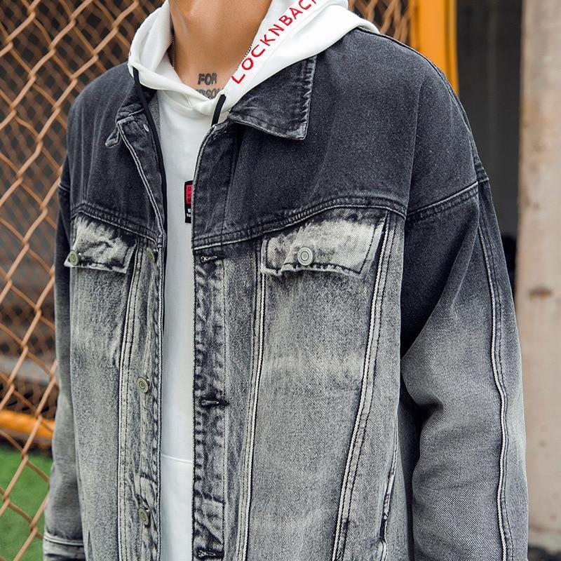 68f6fe2647 Para Streetwear Jeans Los Moda De Negro Hombre Chaquetas Chaqueta La  Patchwork Ropa Hombres Color Mens ...