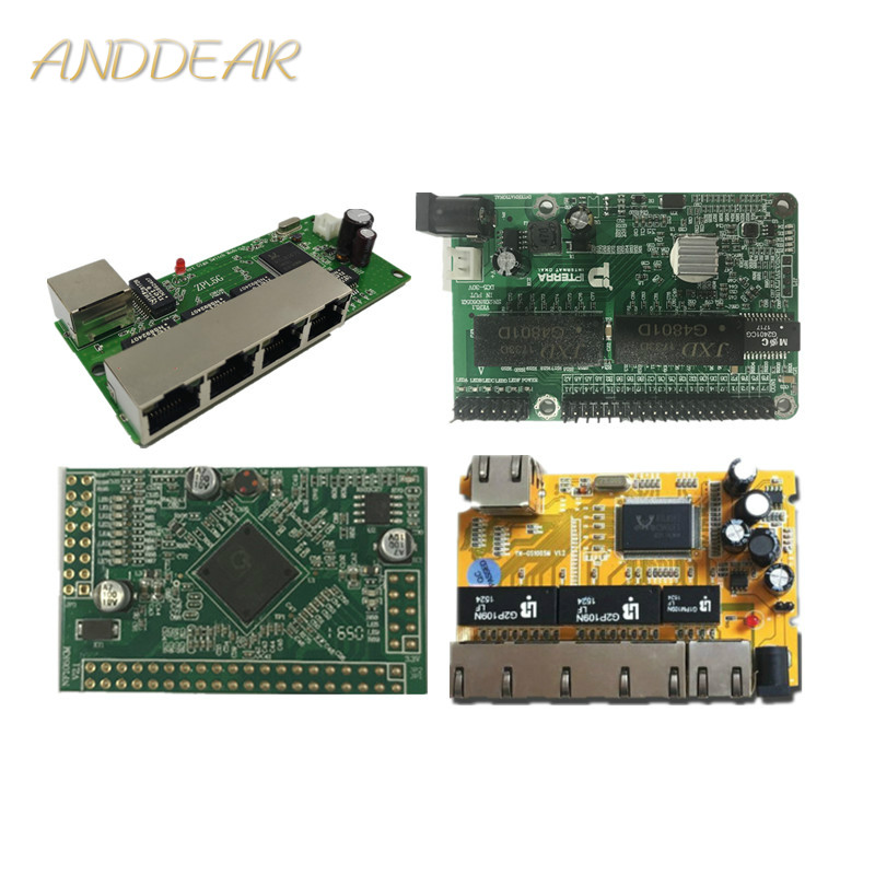 5 port Gigabit switch module is widely used in LED line 5 port 10/100/1000 m contact port mini switch module PCBA Motherboard-in Network Switches from Computer & Office