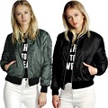 Women bomber jacket new 2016 ladies short coat fly jackets female clothes red black army green cotton poly mixed thin S-XL