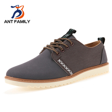 Hot Sale 2017 Fashion Canvas Sport Walking Shoes Men Spring Autumn Suede Casual Shoes Breathable Male Lace Up Flats Shoes Blue