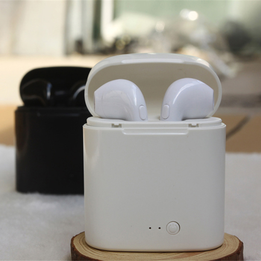TWS I7S Mini Wireless Bluetooth Earphone Sports Headset IN-Ear Blutooth Earbuds With Mic Charging Case for iPhone xiaomi phone mini tws v5 0 bluetooth earphone port wireless earbuds stereo in ear bluetooth waterproof wireless ear buds headset yz209
