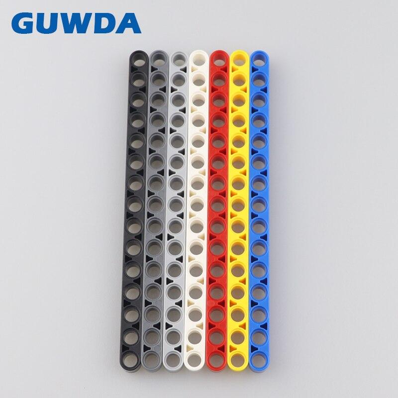 50PCS Technic Parts Liftarm 1x15 Thick Bulk Bricks DIY Truck Crane Accessories Compatible Legoed MOC Building Blocks Toys 32278