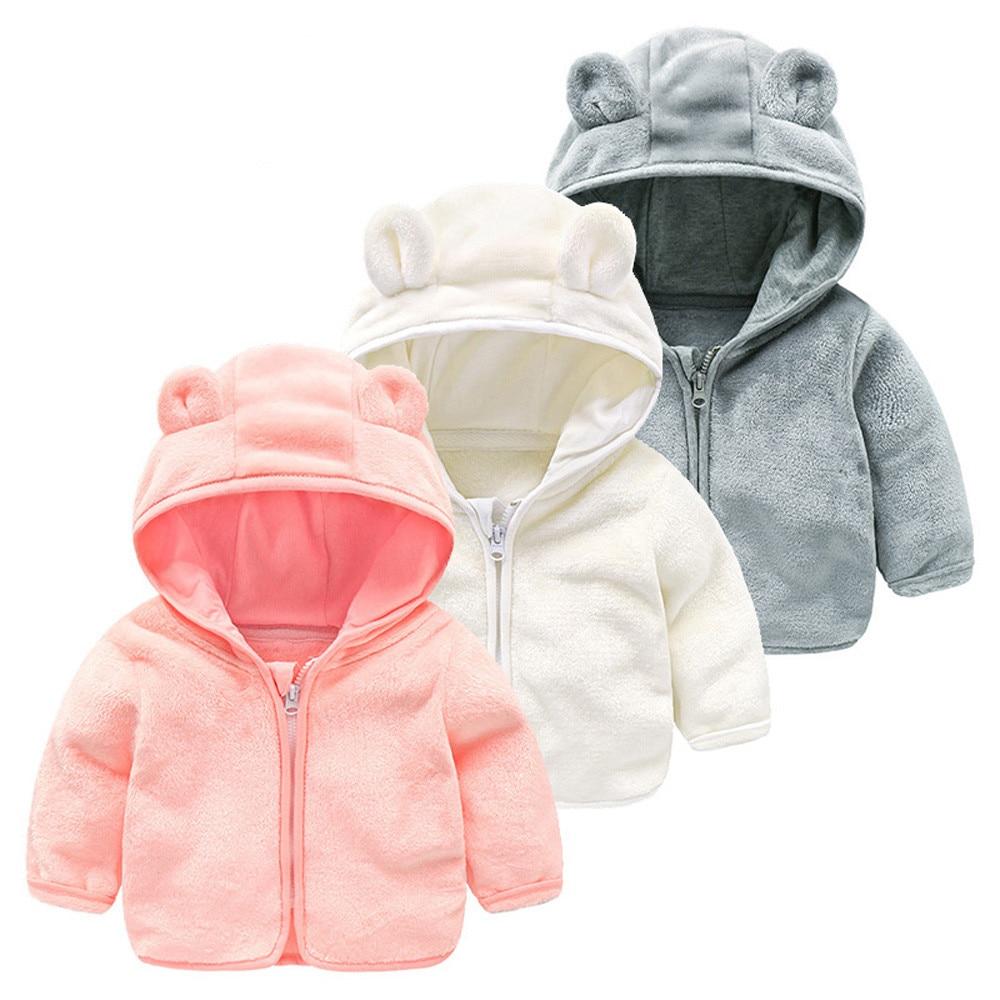 2018 Neue Ankunft Kid Infant Baby Jungen Mädchen Cartoon Ohr Mit Kapuze Pullover Tops Warme Kleidung Mantel Tops Kostüm Casual Pullover