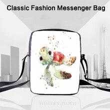 CROWDALE 3D-printing turtle Shoulder Bag Women Messenger Bags Handbags Ocean Series travel Children Crossbody 23x17x5cm