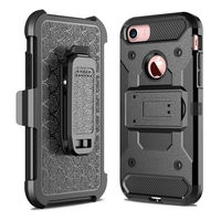 For Apple IPhone 7 7S Steel Clamp Heavy Duty Advanced Armor Belt Clip Holster With Built
