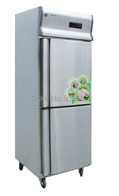 2 door Stainless steel Refrigerator Wide double freezer copper motor Wide gentry freezer All Season available. image