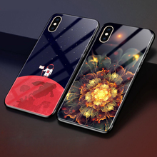 hot deal buy weeyrn starry sky full tempered glass case for iphone xs max glossy luxury hard case patterned back cover for iphone xs xs funda