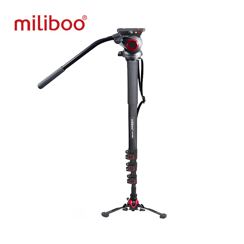miliboo Aluminum Carbon Portable Fluid Head Camera Monopod Professional Tripod for Camcorder /DSLR Video Stand Max Height 187cmmiliboo Aluminum Carbon Portable Fluid Head Camera Monopod Professional Tripod for Camcorder /DSLR Video Stand Max Height 187cm