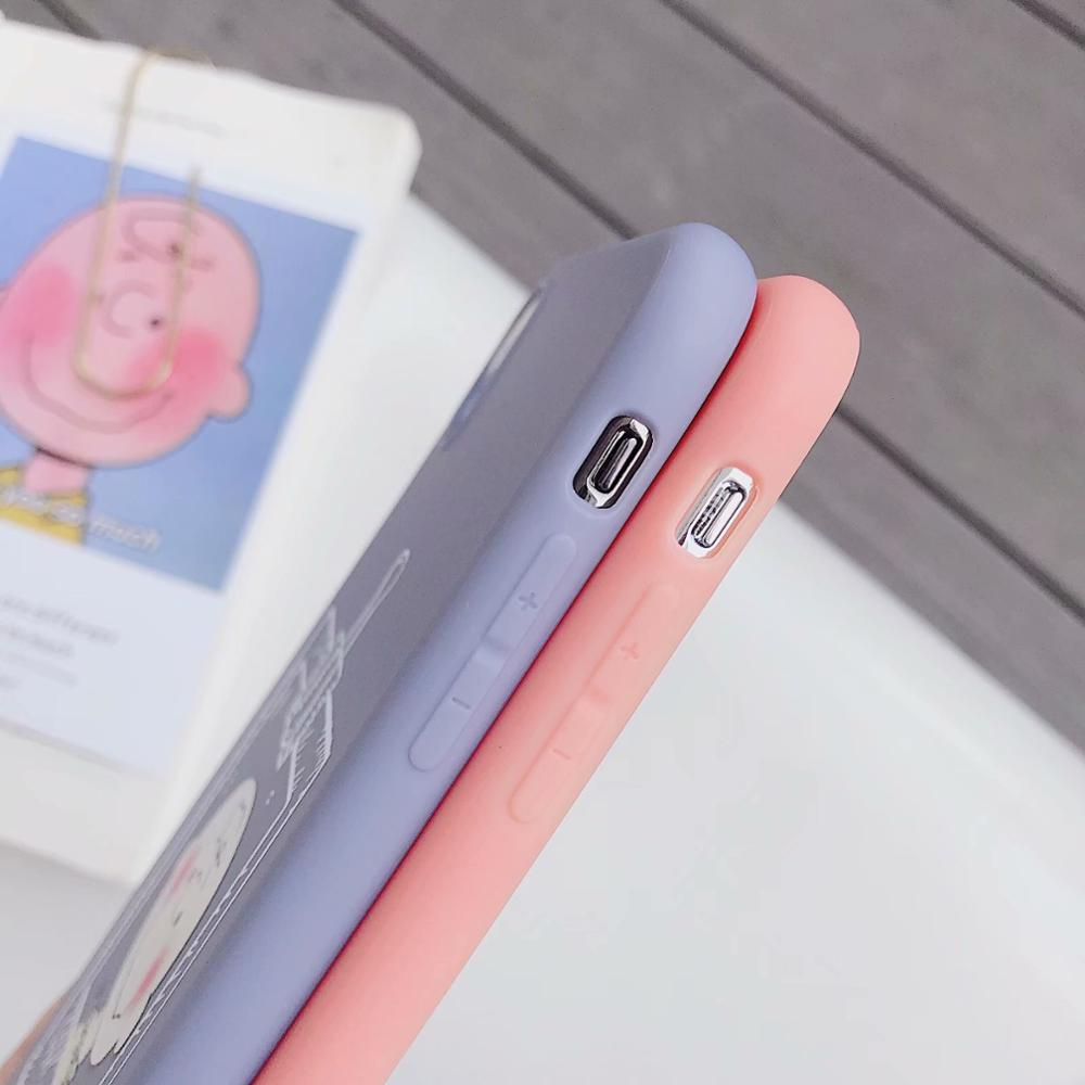IMIDO New Boy Girl For iphone 6 7 8 X Cases Cute Simple Anti fall Lanyard Fashion Phone Cases Back Cover TPU Soft Silicone Cases