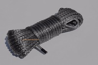 Grey 6mm 15m Synthetic Winch Rope ATV Winch Line Boat Winch Rope 6mm ATV Winch Cable