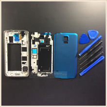 Sapphire Blue Original Mobile Phone Replacement Full Housing Case Middle Frame Cell Phone For Samsung Galaxy S5 G900 I9600 Tools