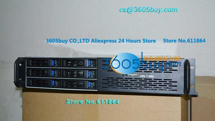 New 2U 6 disk hot plug chassis server HD monitor frame type hot swap chassis 650mm length 2U case with hot swap