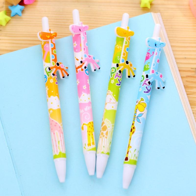 300 шт. душа ребенка возвращение подарок милый олень Жираф шариковая ручка дети День рождения Сувениры wen6275