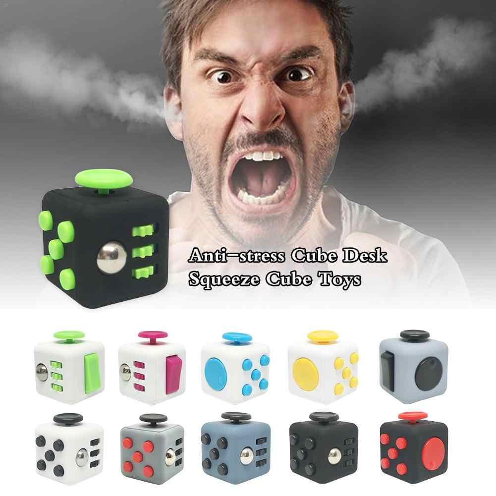 Anti-stress Cube Desk Squeeze Cube Toys Stress Relief Hand Magic Mini Cube Game And Puzzle
