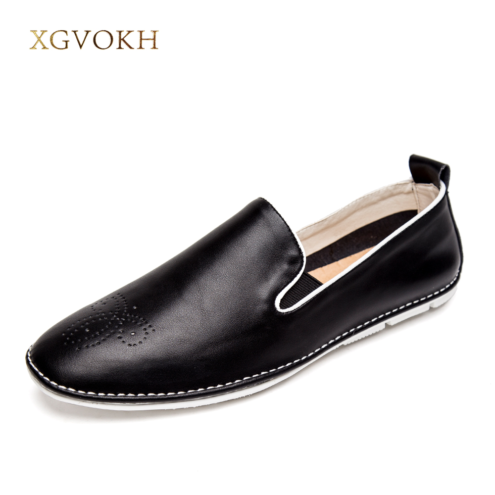 New Mens Casual Shoes Genuine Leather Fashion Good Comfortable Boat Shoes Cowhide Driving Moccasins Slip On Loafers Men Flats farvarwo genuine leather alligator crocodile shoes luxury men brand new fashion driving shoes men s casual flats slip on loafers