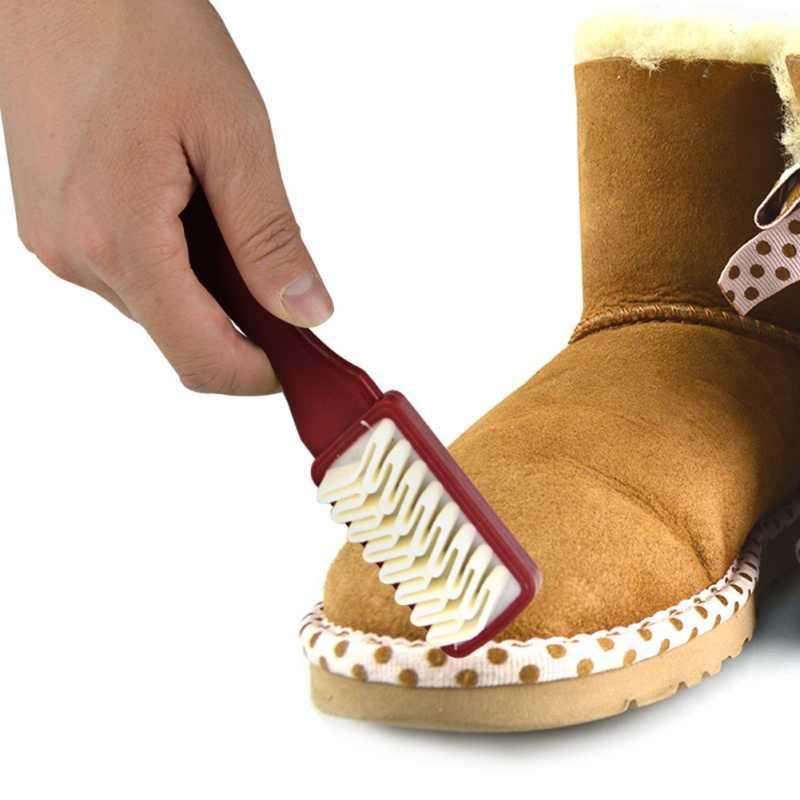 2-zijdig Reinigingsborstel Set Rubber Gum Fit Voor Suede Nubuck Lederen Veiligheidsschoenen + Plastic + Rubber Laarzen cleaner