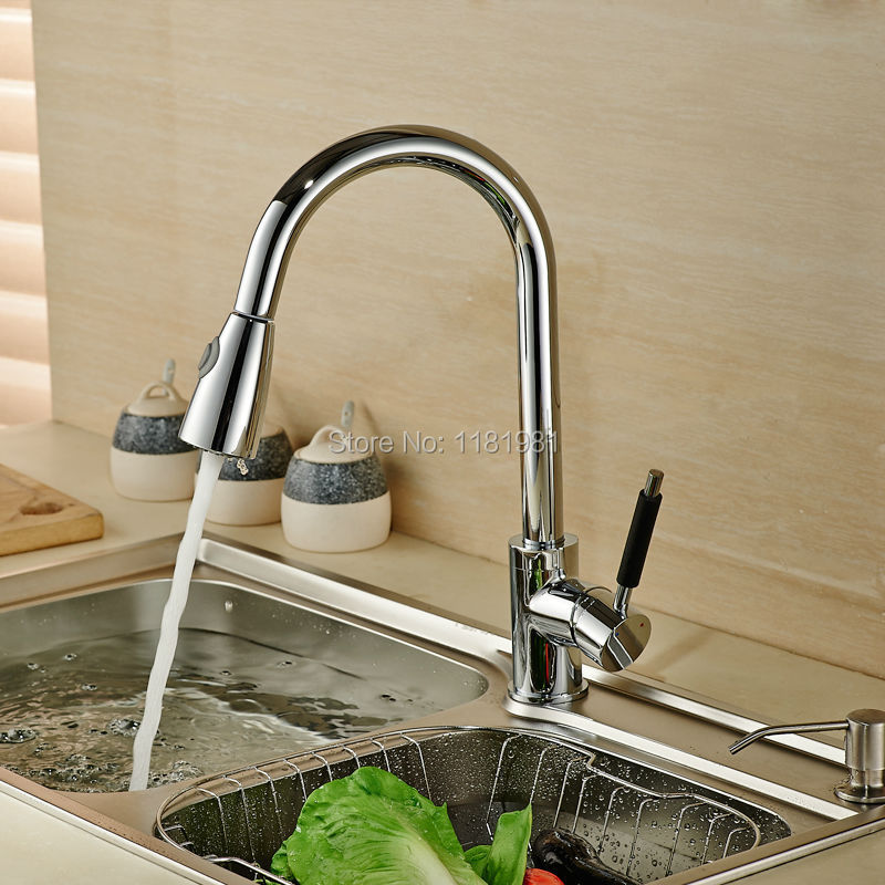 Deck mount mixer hot and cold big head Basin kitchen faucet XR8009 2
