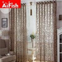 Bird Nest Net Endless Pattern Design Cortinas European High Grade Jacquard Luxury Curtain For Living Room