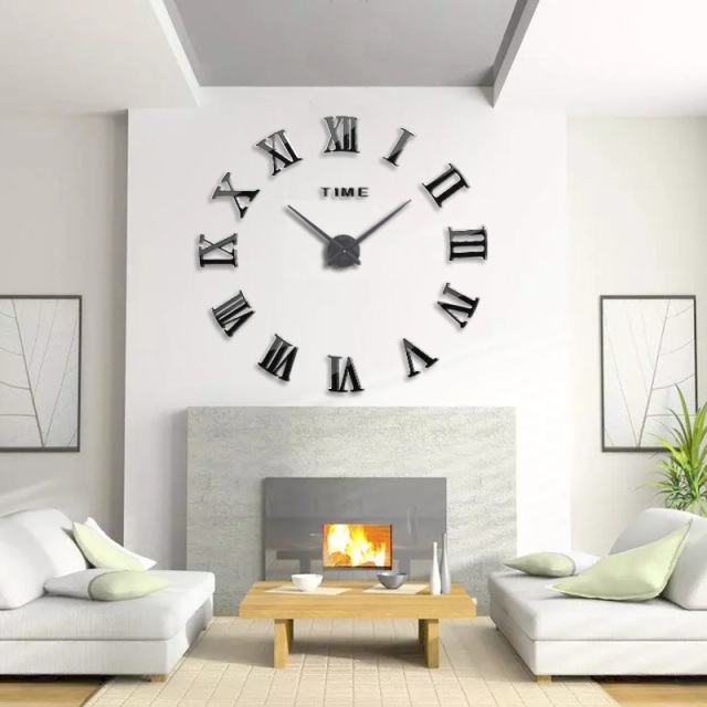 muhsein New Wall Clock Large Mirror Wall Clock Modern Design Large Size Wall Clock DIY Wall Sticker Unique Gift free shipping