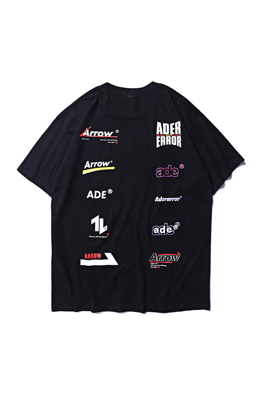 2019ss ADER Arrow Different Logos Printed Women Men T shirts tees Hiphop Streetwear Men Cotton Casual T shirt