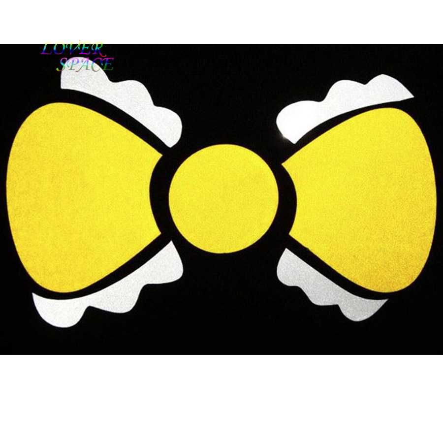 Yellow BOW TIE Decor Sticker Car Auto Window Vinyl Decal Laptop Cute Girlie Gift Girls Room Wall Decals 3X5